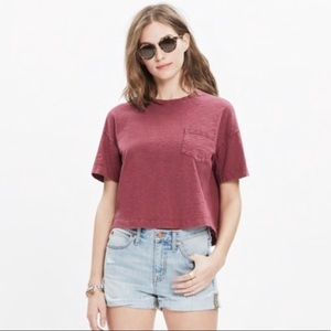Madewell Oversized Cropped Short Sleeve Tee